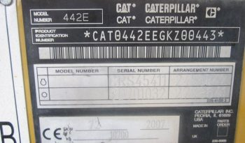 Caterpillar Backhoe Loader 442 E 2007 back hoe loader for sale £29.000 full